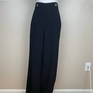 Zara Black Wide Leg Trousers. Size L.